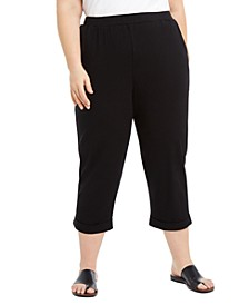Plus Size Slouchy Cropped Pants