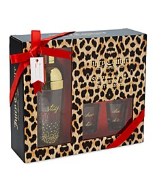 "Cheetah Print ""Stay Juicy"" Cocktail Shaker & Shot Glass Gift Set"