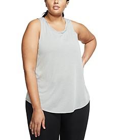 Plus Size Dri-FIT Cutout-Back Yoga Training Tank Top