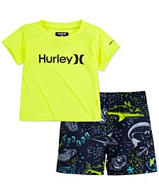 Baby Boys 2-Pc. Dri-FIT UPF 50+ Logo-Print T-Shirt & Shorts Set
