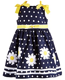Baby Girls Dot-Print Daisy Dress