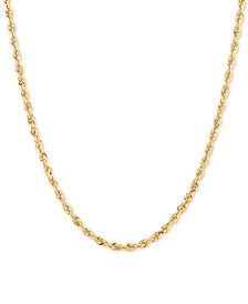 """Rope Link 18"""" Chain Necklace in 14k Gold"""