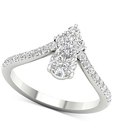 Diamond Pear Tiara Ring (1 ct. t.w.) in 14k White Gold