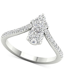 Diamond Pear Tiara Ring (1 ct. t.w.) in 14k White Gold