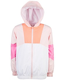 Big Girls Colorblocked Hooded Windbreaker, Created For Macy's