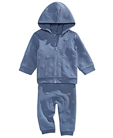 Baby Boys 2-Pc. Star Hoodie & Jogger Pants Set, Created For Macy's