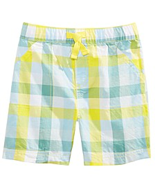 Toddler Boys Plaid Cotton Shorts, Created For Macy's