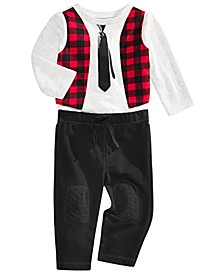 Baby Boys Vest T-Shirt & Patch Pants, Created for Macy's