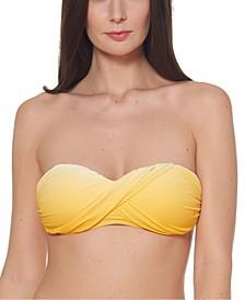 Ombré Twist Bandeau Bikini Top