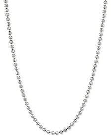"""Bead Link 30"""" Chain Necklace in Sterling Silver"""