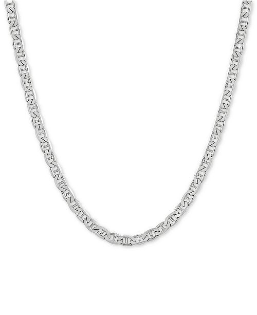 """Macy's Mariner Link 20"""" Chain Necklace in Sterling Silver"""