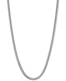 "Snake Link 18"" Chain Necklace in Sterling Silver"