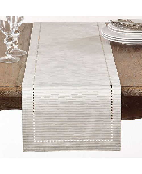Saro Lifestyle Table Runner with Hemstitched Design
