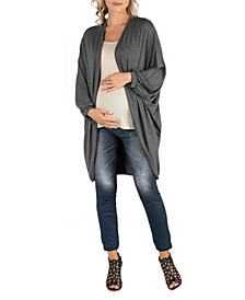 Circle Shape Long Sleeve Maternity Cardigan