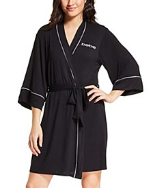 Short Wrap Logo Robe