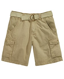 Big Boys Bobby Twill Cargo Shorts with D-Ring Belt, Created For Macy's