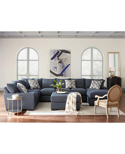 Furniture Tuni Fabric Sectional Sofa Collection, Created for Macy's