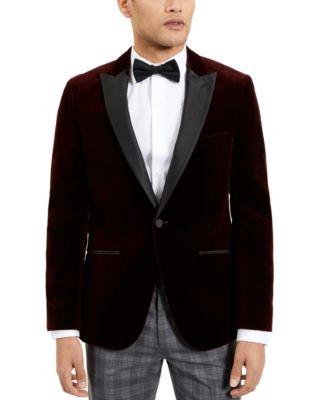 hugo boss red velvet jacket