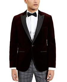 Boss  Red Velvet Cotton Slim Fit Sportcoat