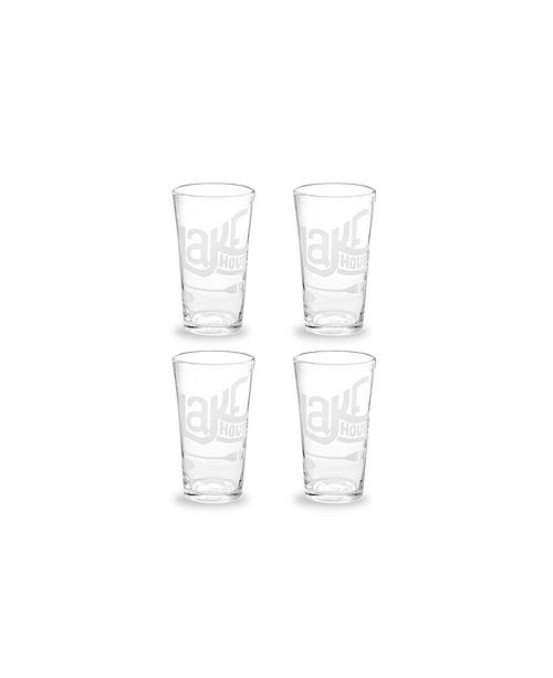 Rosanna Imports Vacation Getaway Glass Tumbler Lake House - Set of 4