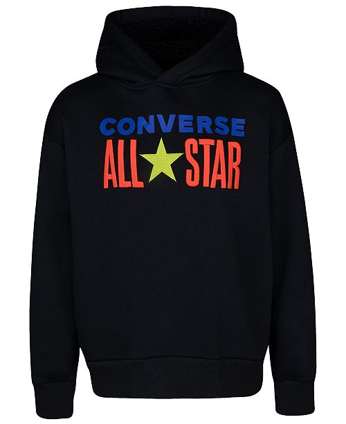 Converse Big Boys All Star Embroidered Fleece-Lined Hoodie