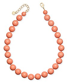 "Gold-Tone Beaded Collar Necklace, 16"" + 2"" extender, Created For Macy's"