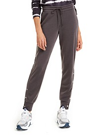 Juniors' Side-Snap Jogger Pants