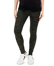 Maternity Coated Camo Skinny Jeans