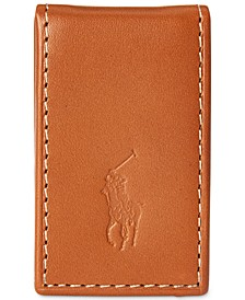 Men's Burnished Leather Money Clip