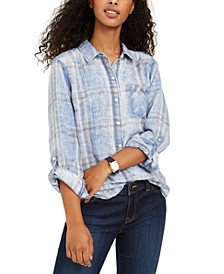 Plaid Roll-Sleeve Shirt