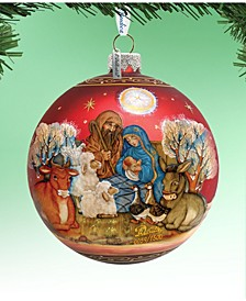 Limited Edition Oversized Story of Nativity Ball Glass Ornament