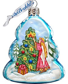 Angelic Tree Glass Ornament