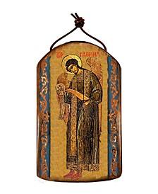 Saint Gabriel Archangel Wooden Greek Christian Orthodox Icon Ornament