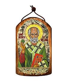 Saint Patrick Wooden Greek Christian Orthodox Icon Ornament
