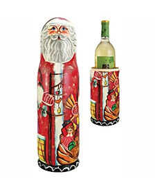 Russian Santa Wine Bottle Gift Box