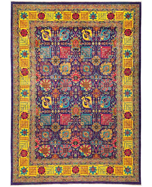 "Timeless Rug Designs CLOSEOUT! One of a Kind OOAK2761 Purple 9'10"" x 13'8"" Area Rug"