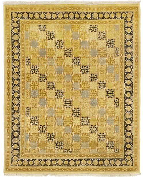 "Timeless Rug Designs CLOSEOUT! One of a Kind OOAK43 Flax 7'10"" x 10'1"" Area Rug"