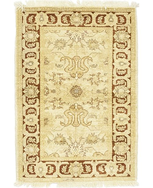"""Timeless Rug Designs CLOSEOUT! One of a Kind OOAK54 Cream 3'3"""" x 4'8"""" Area Rug"""