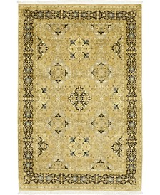 """CLOSEOUT! One of a Kind OOAK64 Flax 6'1"""" x 9'3"""" Area Rug"""