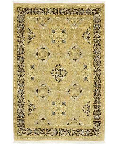 "Timeless Rug Designs CLOSEOUT! One of a Kind OOAK64 Flax 6'1"" x 9'3"" Area Rug"