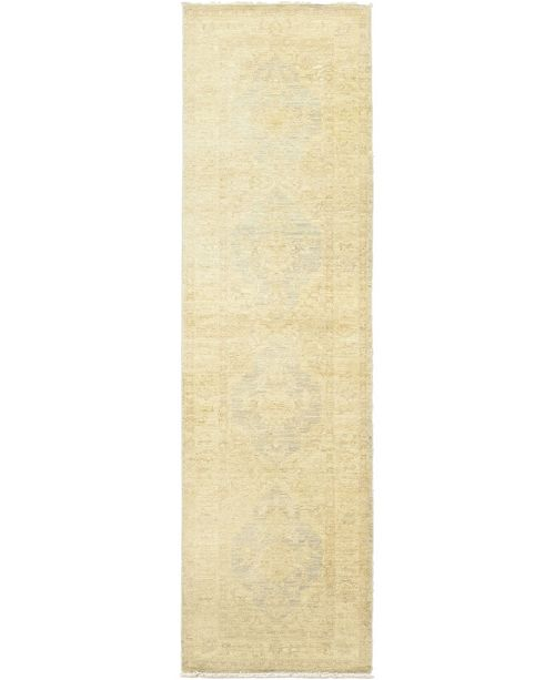 "Timeless Rug Designs CLOSEOUT! One of a Kind OOAK204 Cream 2'8"" x 9'9"" Runner Rug"