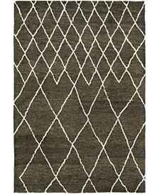 """CLOSEOUT! One of a Kind OOAK330 Brown 6'3"""" x 9' Area Rug"""
