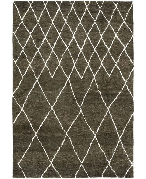 """Timeless Rug Designs CLOSEOUT! One of a Kind OOAK330 Brown 6'3"""" x 9' Area Rug"""