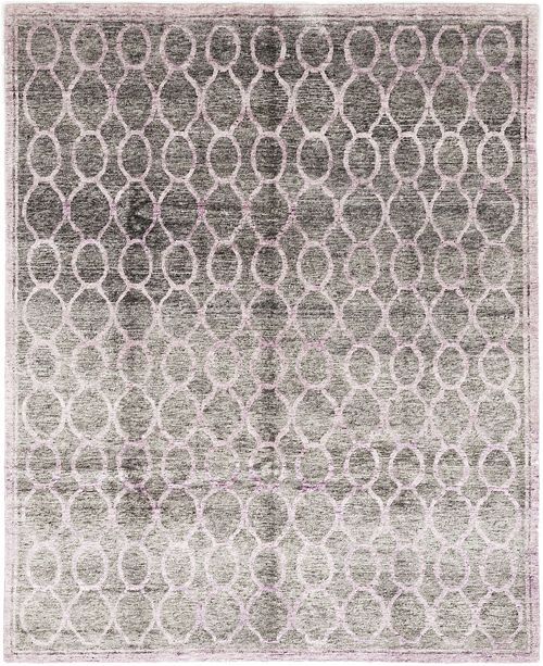 "Timeless Rug Designs CLOSEOUT! One of a Kind OOAK351 Lavender 7'10"" x 9'10"" Area Rug"