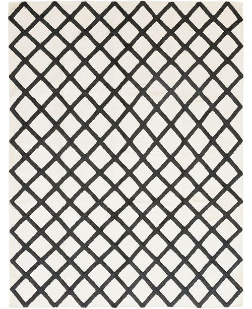 "Timeless Rug Designs CLOSEOUT! One of a Kind OOAK384 White 8'1"" x 10'1"" Area Rug"