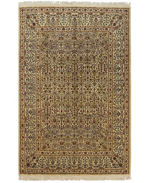 """Timeless Rug Designs CLOSEOUT! One of a Kind OOAK555 Cream 8'7"""" x 12'3"""" Area Rug"""