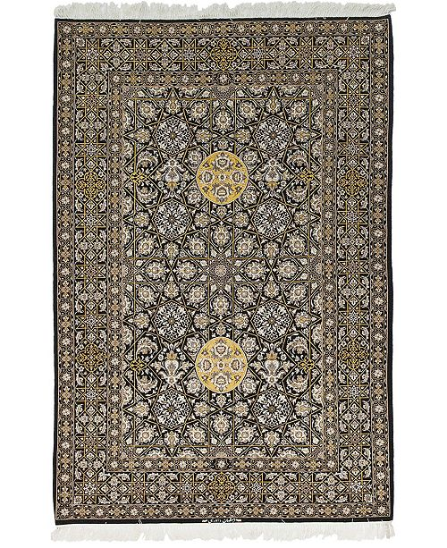 "Timeless Rug Designs CLOSEOUT! One of a Kind OOAK595 Yellow 5' x 7'4"" Area Rug"