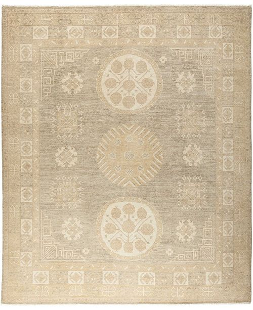"Timeless Rug Designs One of a Kind OOAK665 Mocha 8'1"" x 9'7"" Area Rug"
