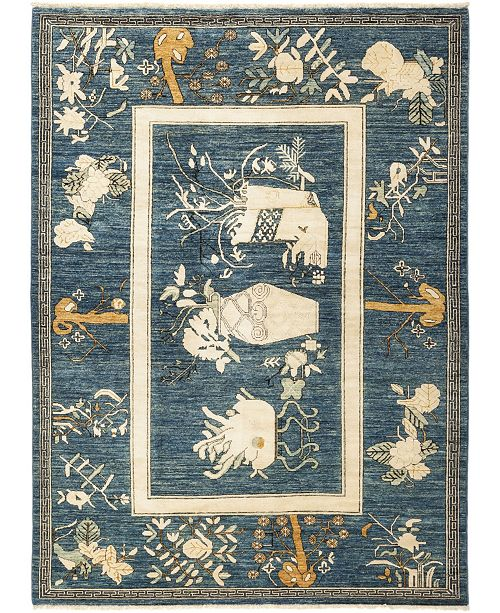 """Timeless Rug Designs CLOSEOUT! One of a Kind OOAK685 Ocean 5'10"""" x 8'2"""" Area Rug"""