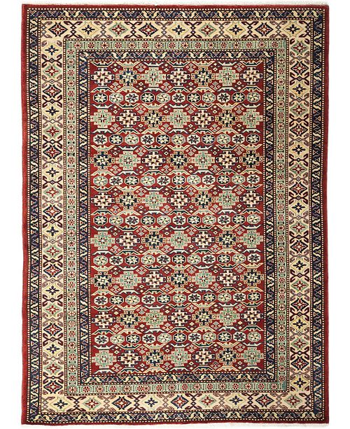 "Timeless Rug Designs CLOSEOUT! One of a Kind OOAK708 Orange 4'3"" x 5'9"" Area Rug"